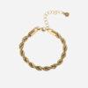 Bold rope bracelet gold