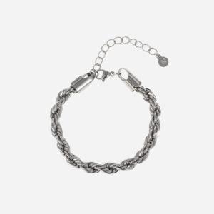 Bold rope bracelet silver