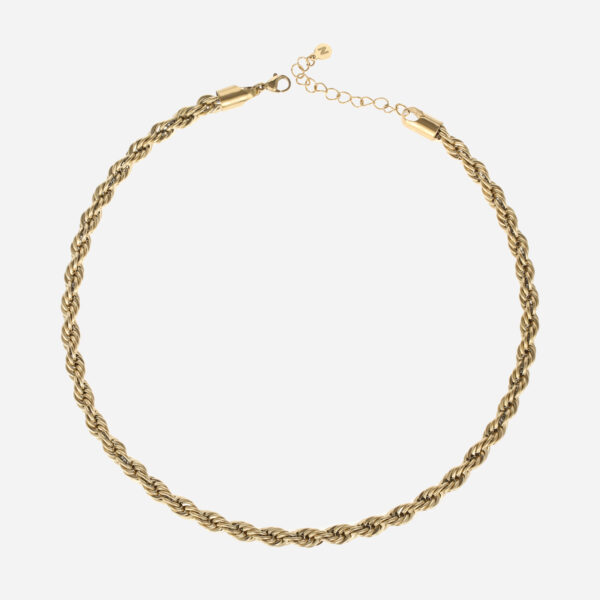 Bold rope necklace gold