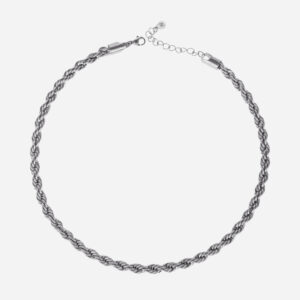 Bold rope necklace silver