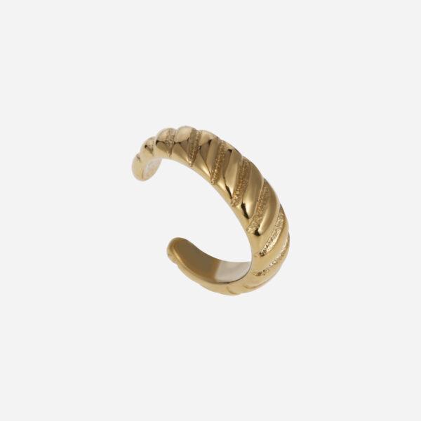 Croissant earcuff gold