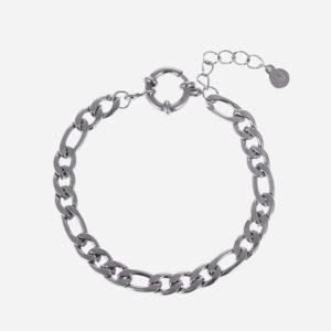 Figaro chain bracelet silver