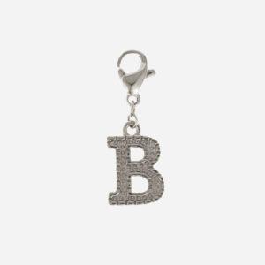 Initial charm B silver