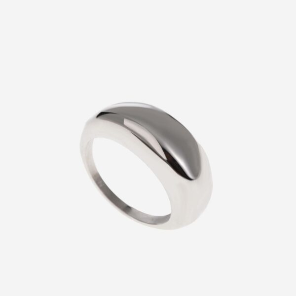 Chunky bold ring silver