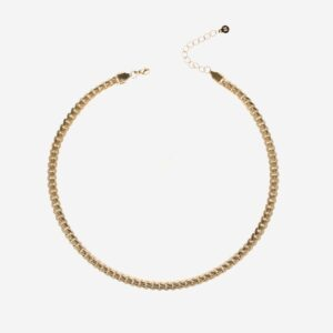 Flat chain Necklace gold