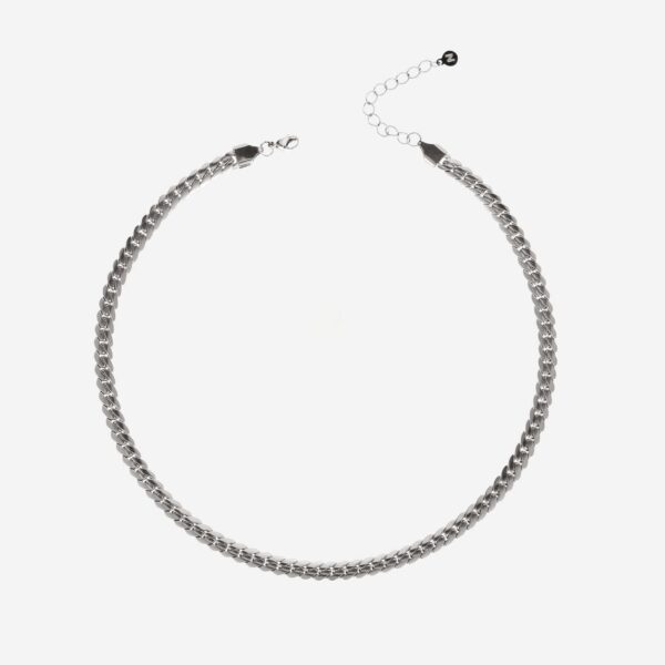 Flat chain necklace silver