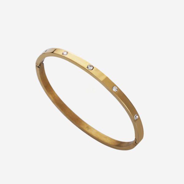 Strass bangle bracelet gold